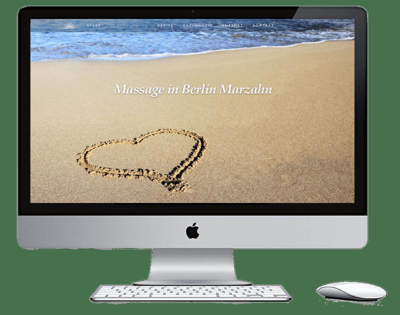 Webdesign Stralsund - Seitenschmiede - Massagestudio