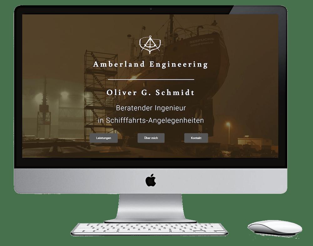 Webdesign Stralsund - Seitenschmiede - Amberland Engineering